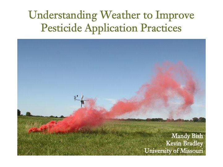 Understanding Weather for Ground Pesticide Applications