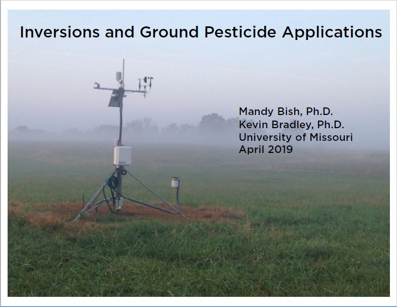 Inversions and Ground Pesticide Applications