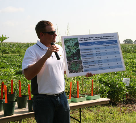 Eric Riley, former MU Weed Science Research Specialist, discusses the results of his research on the management of giant ragweed.